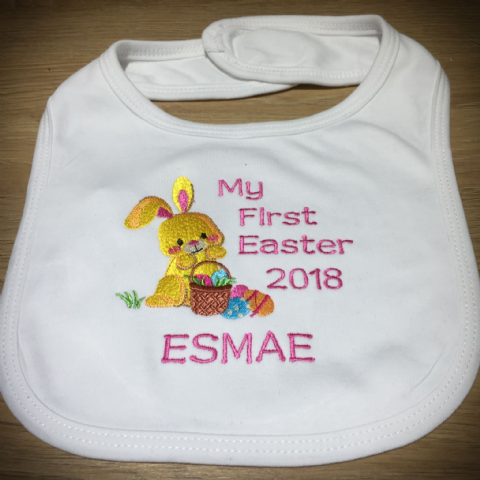 Personalised Babies Bib - My First Easter 2020